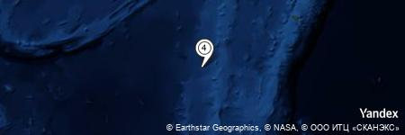 Yandex Map of 51.224 miles of South Minerva Reef