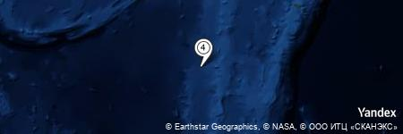 Yandex Map of 49.520 miles of South Minerva Reef