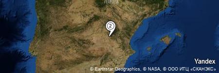Yandex Map of 0.266 miles of Valera de Arriba