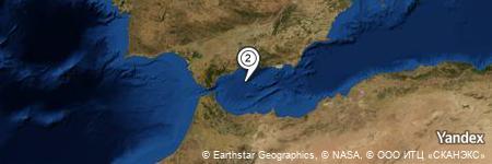 Yandex Map of 22.634 miles of Arroyo de las Casillas