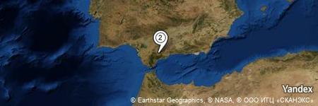 Yandex Map of 1.255 miles of Serranía de Ronda