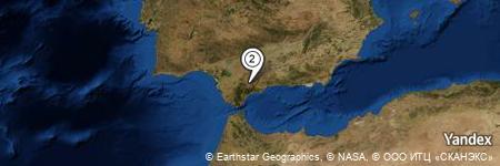 Yandex Map of 0.827 miles of Circuito Ascari