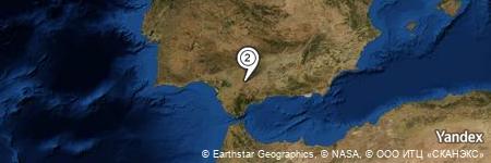Yandex Map of 1.546 miles of Puebla de Cazalla, La