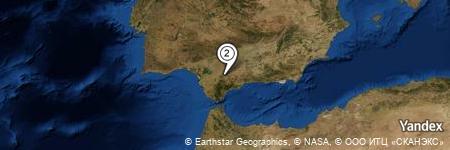 Yandex Map of 1.706 miles of Sierra de las Harinas