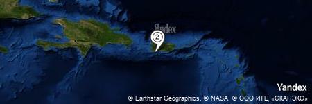 Yandex Map of 3.510 miles of Cayos de Caña Gorda
