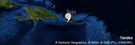 Yandex Map of 3.715 miles of Bahía de Guánica