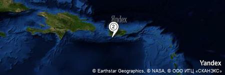 Yandex Map of 5.746 miles of Bahía de Guánica