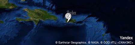 Yandex Map of 0.846 miles of Cayos de Caña Gorda