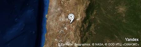 Yandex Map of 3.828 miles of Cerro Pocitos