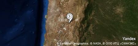 Yandex Map of 0.809 miles of Saladillo