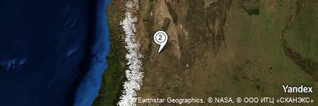 Yandex Map of 1.035 miles of Tres Porteñas