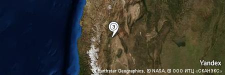 Yandex Map of 2.463 miles of Mina de los Azules