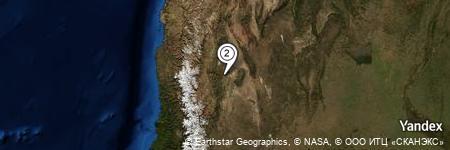 Yandex Map of 2.791 miles of Cerro de Ullún