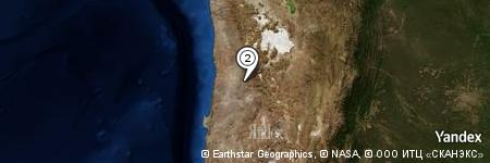 Yandex Map of 0.194 miles of Quebrada Novilla Muerta
