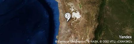 Yandex Map of 1.337 miles of Quebrada Chitigua