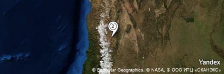 Yandex Map of 1.258 miles of Cerro Cucaracha