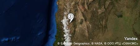 Yandex Map of 1.335 miles of Quebrada Honda