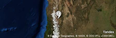 Yandex Map of 0.365 miles of Arroyo del Desplobado