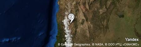 Yandex Map of 2.169 miles of Cerro del León