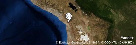 Yandex Map of 0.626 miles of Cerro Cantera
