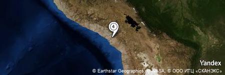 Yandex Map of 2.213 miles of Cerro Apacheta de Putulla