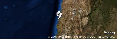 Yandex Map of 2.577 miles of Quebrada La Higuera