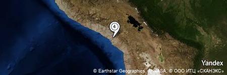 Yandex Map of 2.862 miles of Cerro Huacaluna