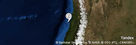 Yandex Map of 13.470 miles of Hueso de Ballena