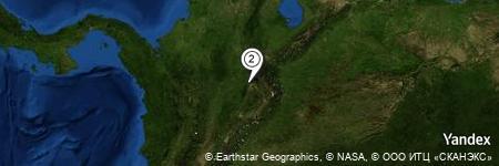 Yandex Map of 4.706 miles of Quebrada Zapatoca