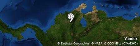 Yandex Map of 0.851 miles of Hacienda Las Flores