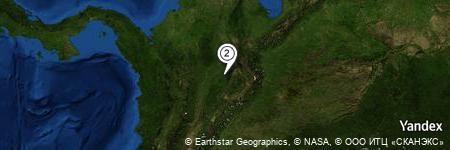 Yandex Map of 1.281 miles of Vereda Flores Blancas