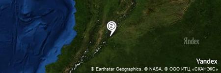 Yandex Map of 3.514 miles of Vereda La Florida
