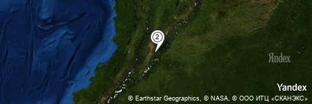 Yandex Map of 1.095 miles of El Valle