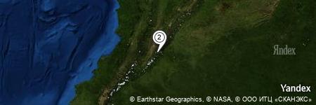 Yandex Map of 2.429 miles of La Lampa