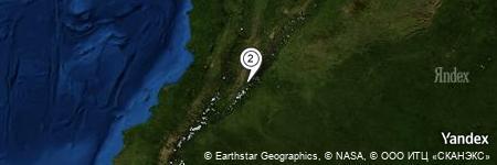Yandex Map of 4.422 miles of Vereda La Plata
