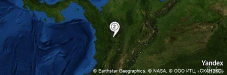 Yandex Map of 0.581 miles of Quebrada Sincelejo Taparo