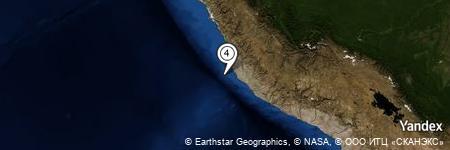 Yandex Map of 24.861 miles of Playa Palo Parado