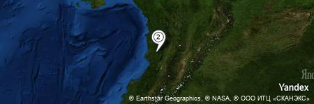 Yandex Map of 8.523 miles of Quebrada Sanandocito