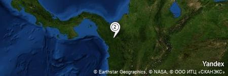 Yandex Map of 3.861 miles of Caño Sucio