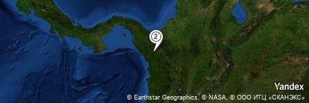Yandex Map of 3.900 miles of Ciénaga de Pedega