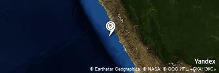 Yandex Map of 40.817 miles of Cerro Pativilca