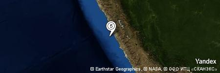 Yandex Map of 21.875 miles of Cabo de Hornos