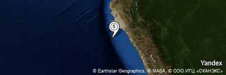 Yandex Map of 32.051 miles of Isla Chichal de Afuera