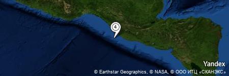Yandex Map of 30.116 miles of Barra del Naranjo