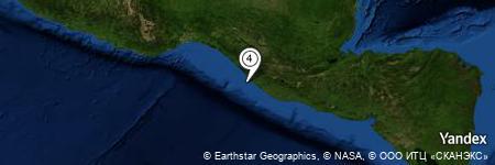 Yandex Map of 10.248 miles of Las Garzas