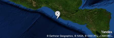 Yandex Map of 38.380 miles of Boca del Río Suchiate