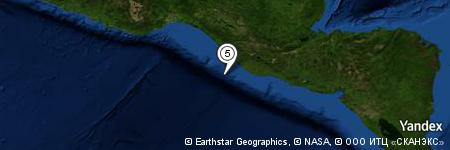 Yandex Map of 50.163 miles of Barra del Naranjo