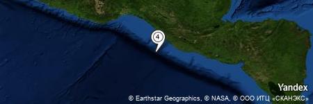 Yandex Map of 65.456 miles of Boca del Río Suchiate
