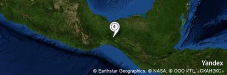 Yandex Map of 1.157 miles of Los Pericos
