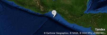 Yandex Map of 73.400 miles of Barra de Tonalá